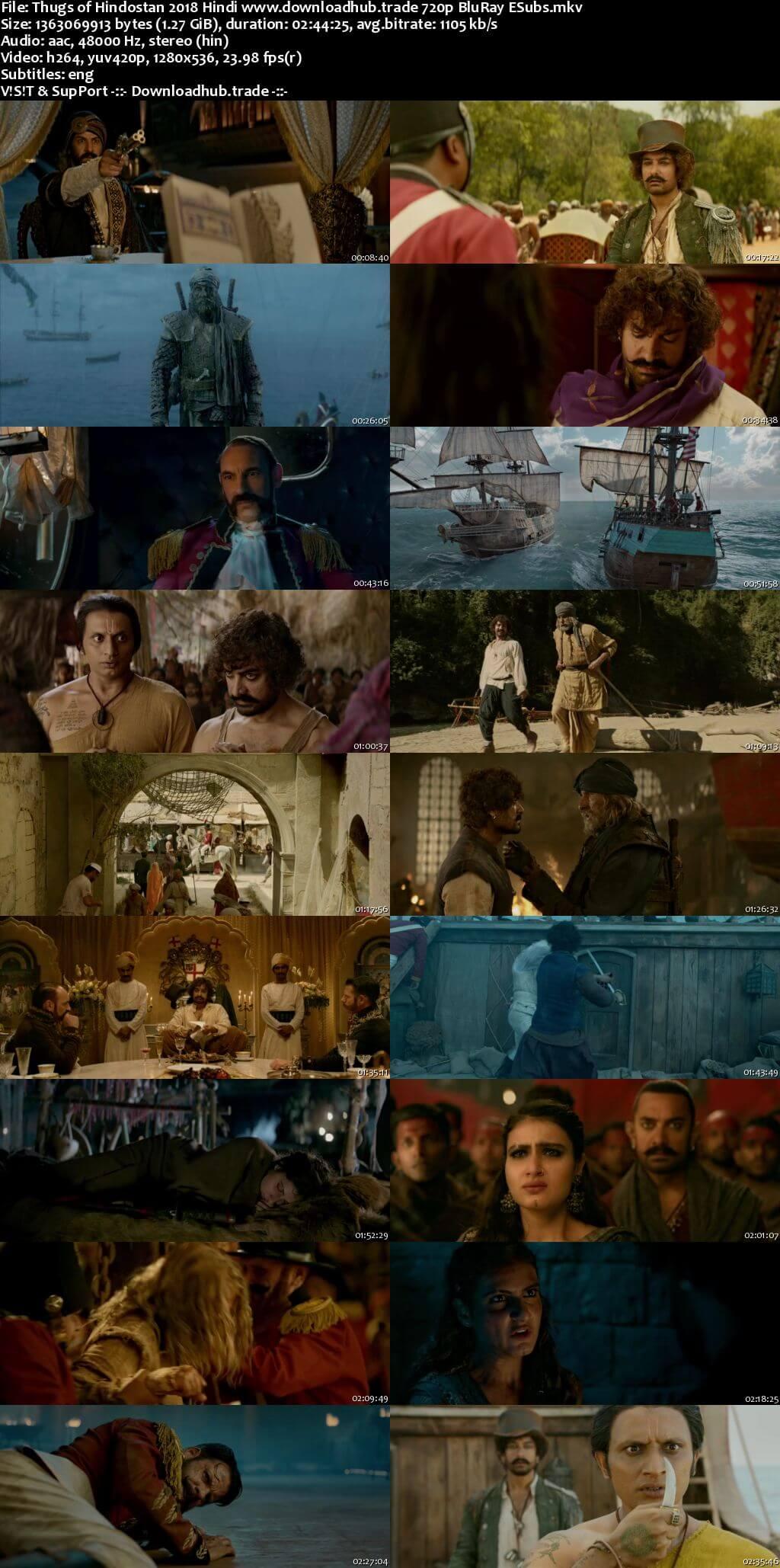 Thugs of Hindostan 2018 Hindi 720p BluRay ESubs