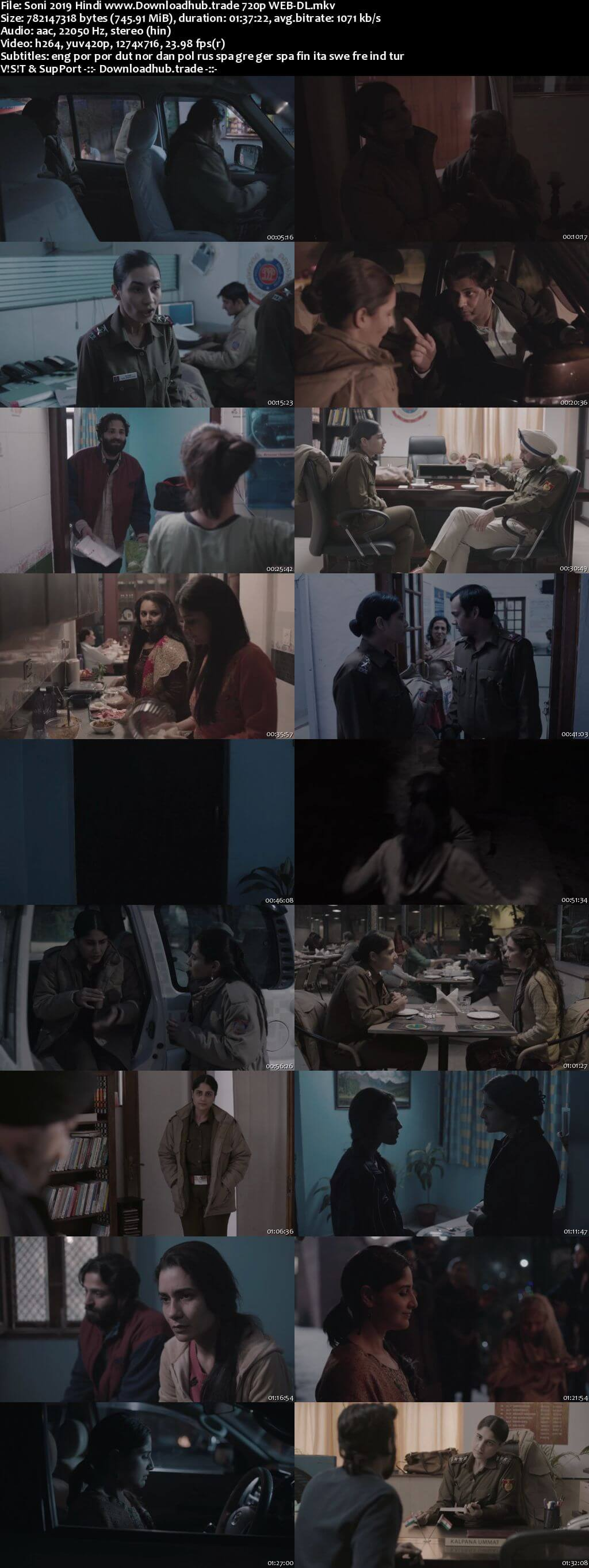 Soni 2019 Hindi 720p HDRip MSubs