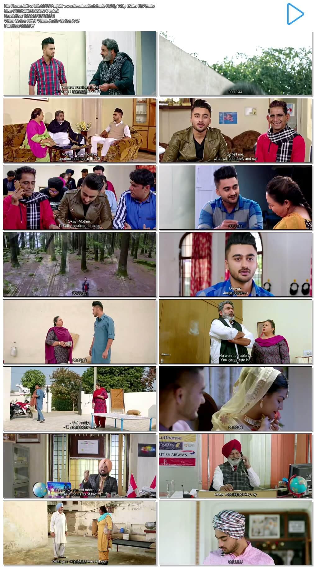 Jatt vs Ielts 2018 Punjabi 600MB HDRip 720p ESubs HEVC