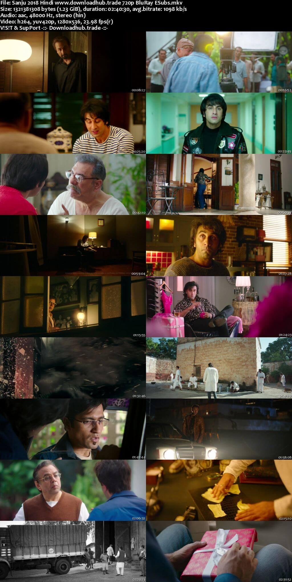 Sanju 2018 Hindi 720p BluRay ESubs