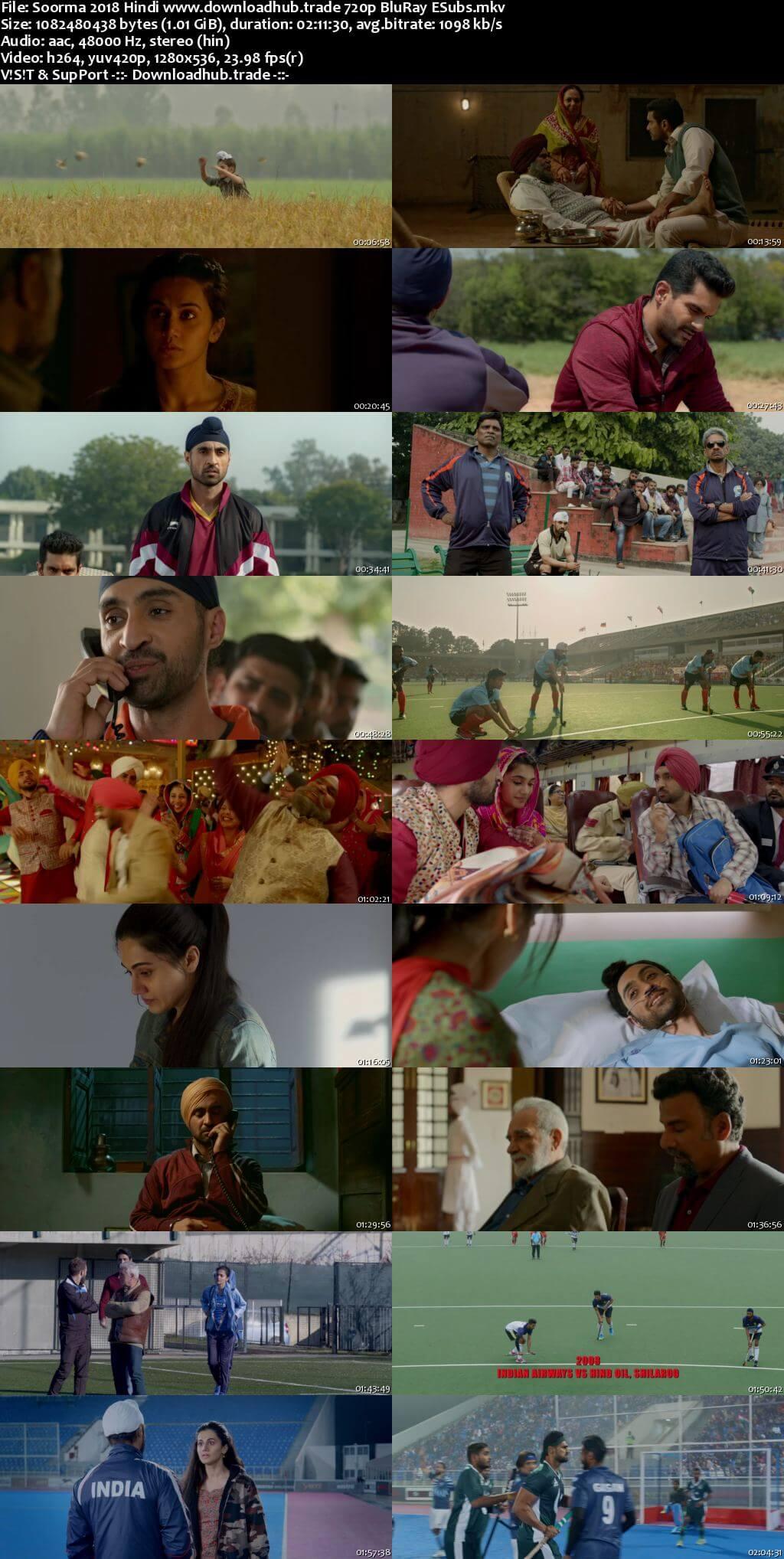 Soorma 2018 Hindi 720p BluRay ESubs