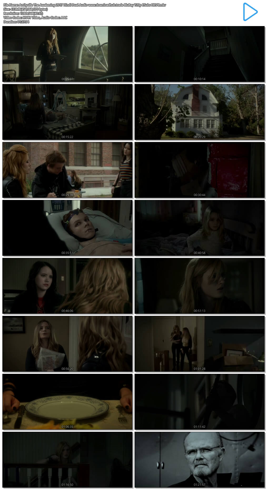Amityville The Awakening 2017 Hindi Dual Audio 400MB BluRay 720p ESubs HEVC