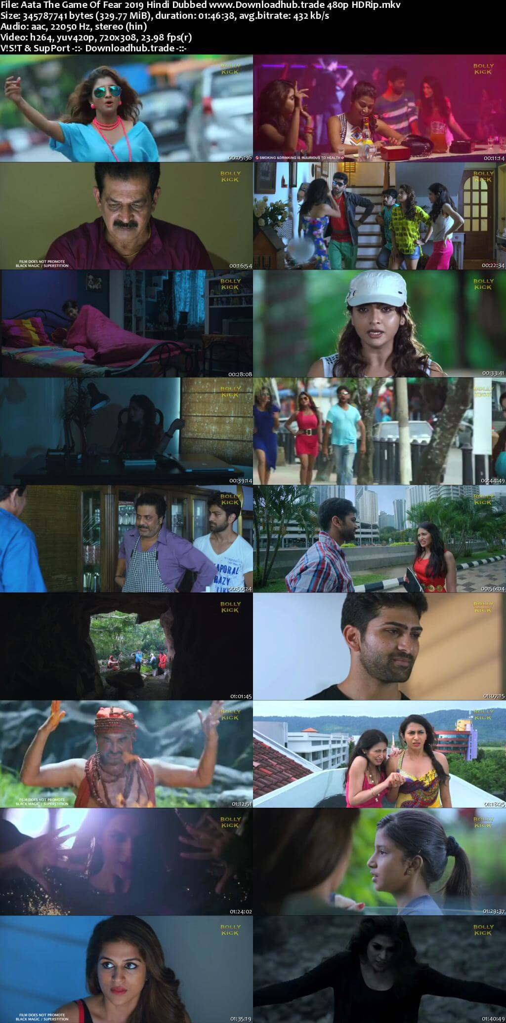 Aata The Game Of Fear 2019 Hindi Dubbed 300MB HDRip 480p