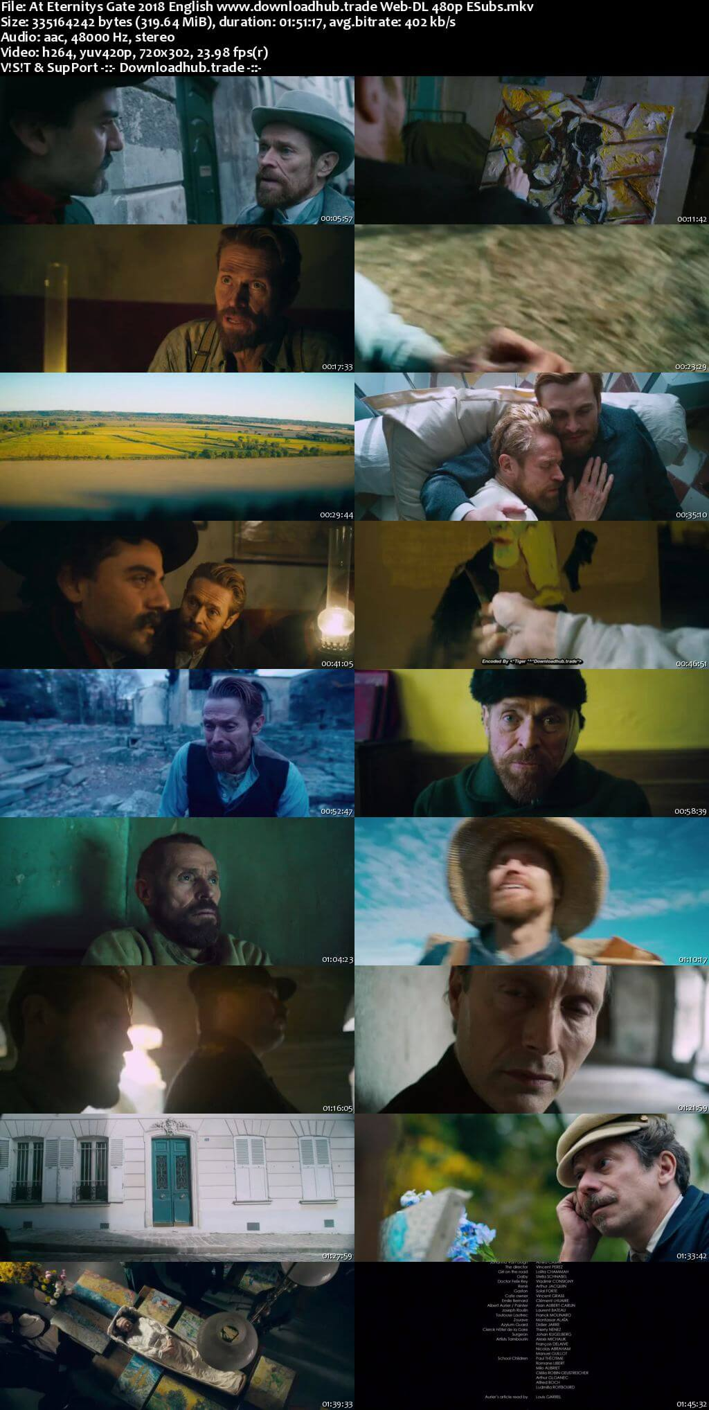 At Eternitys Gate 2018 English 300MB Web-DL 480p ESubs