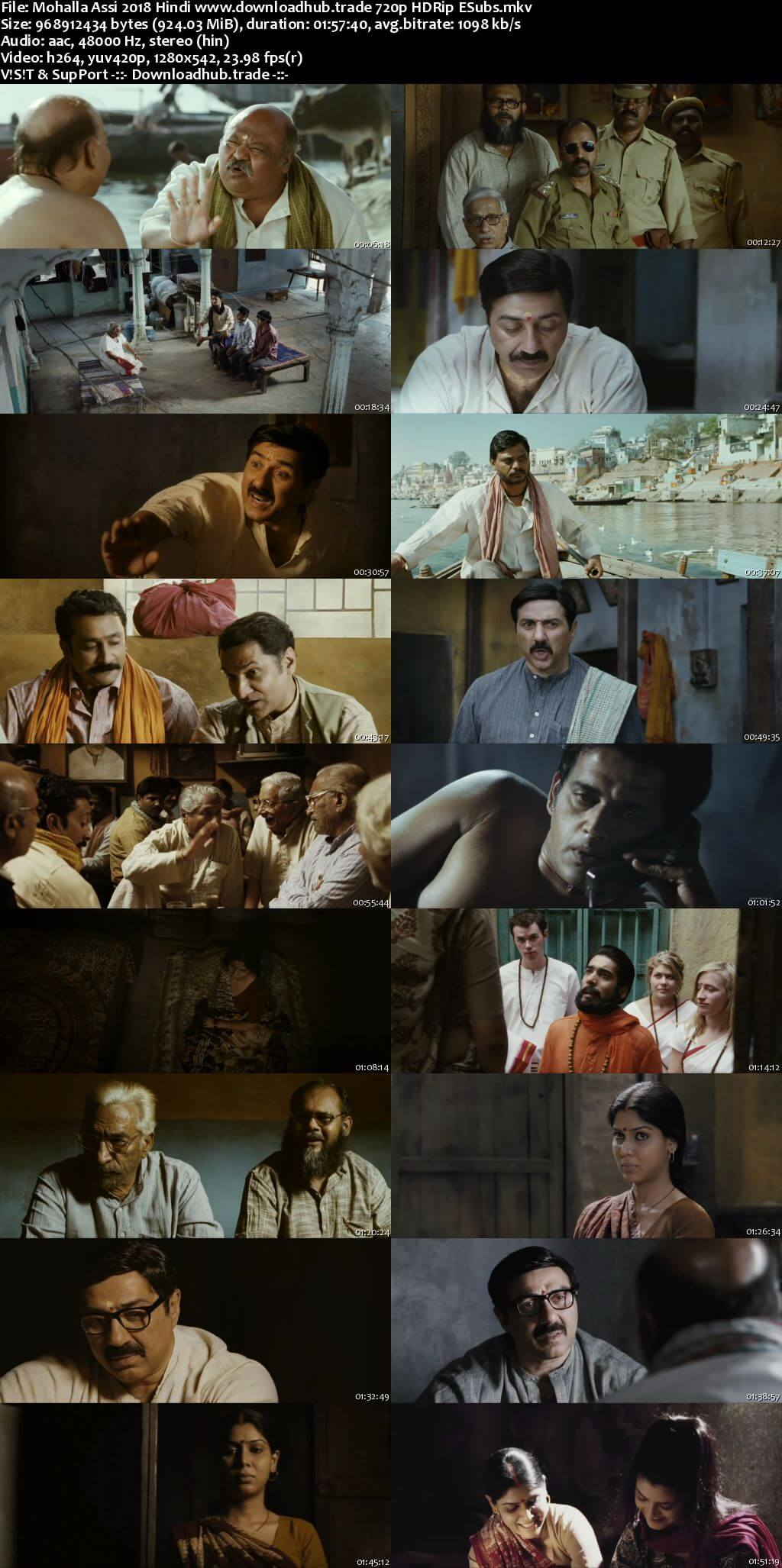 Mohalla Assi 2018 Hindi 720p HDRip ESubs