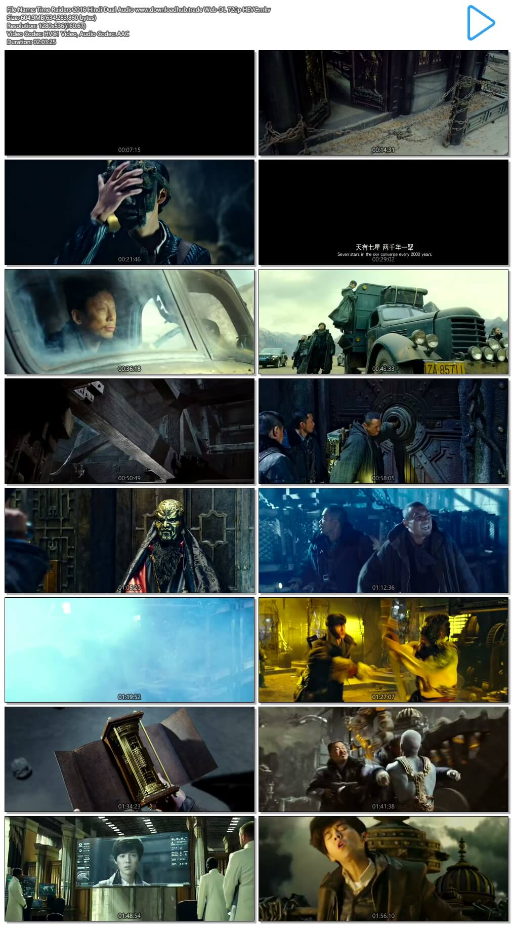 Time Raiders 2016 Hindi Dual Audio 600MB Web-DL 720p HEVC