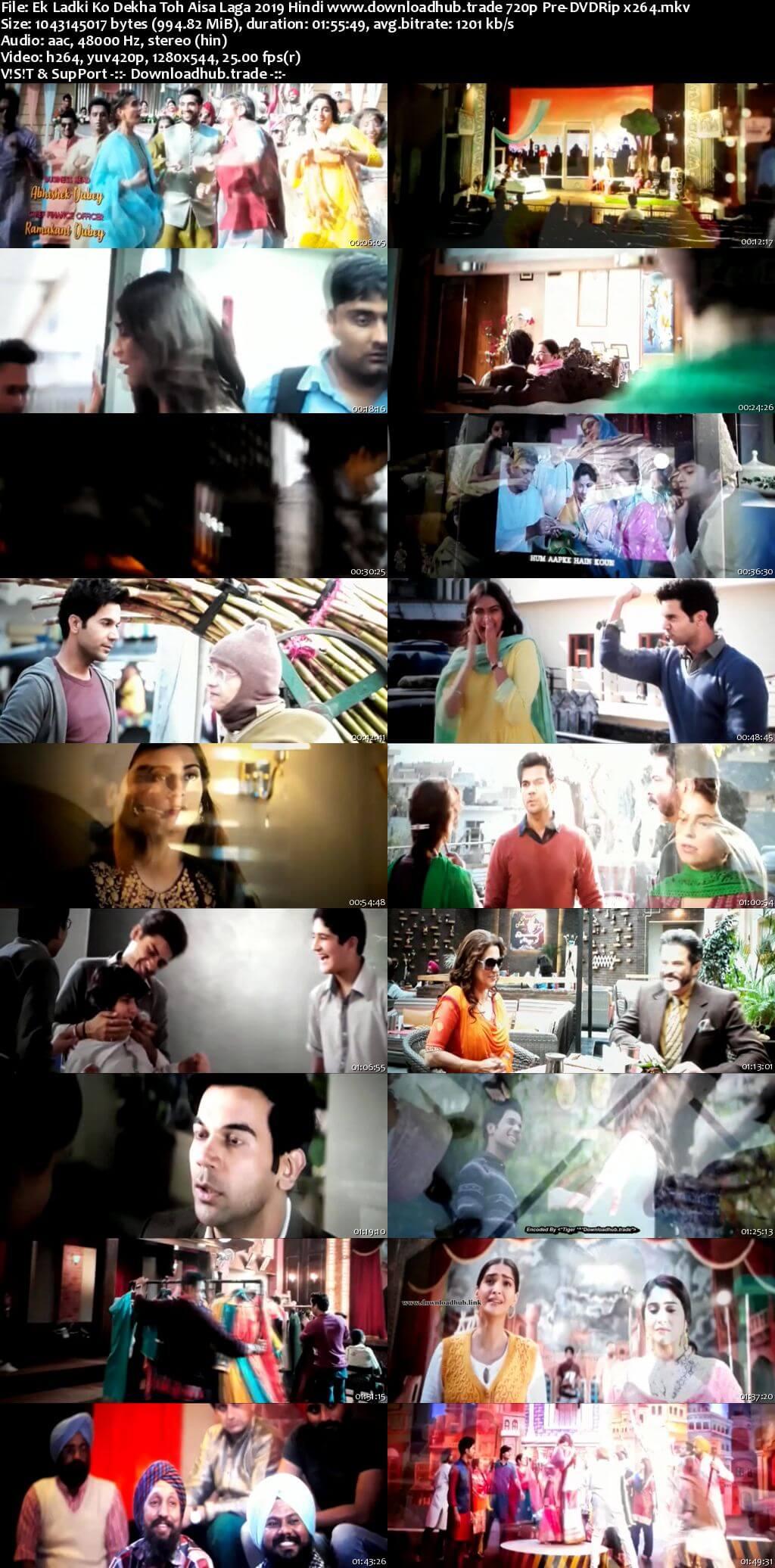 Ek Ladki Ko Dekha Toh Aisa Laga 2019 Hindi 720p Pre-DVDRip x264