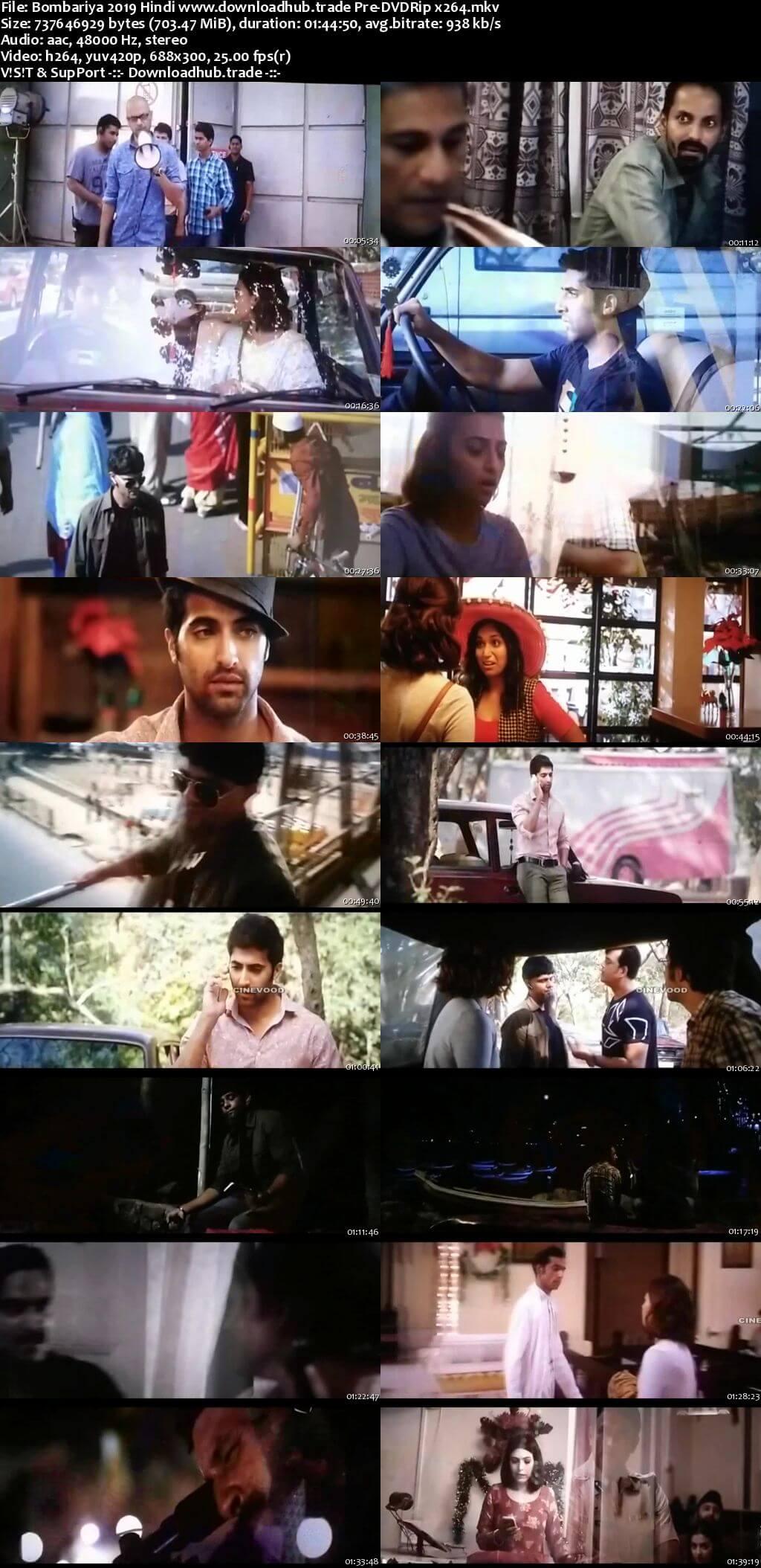 Bombariya 2019 Hindi 700MB Pre-DVDRip x264