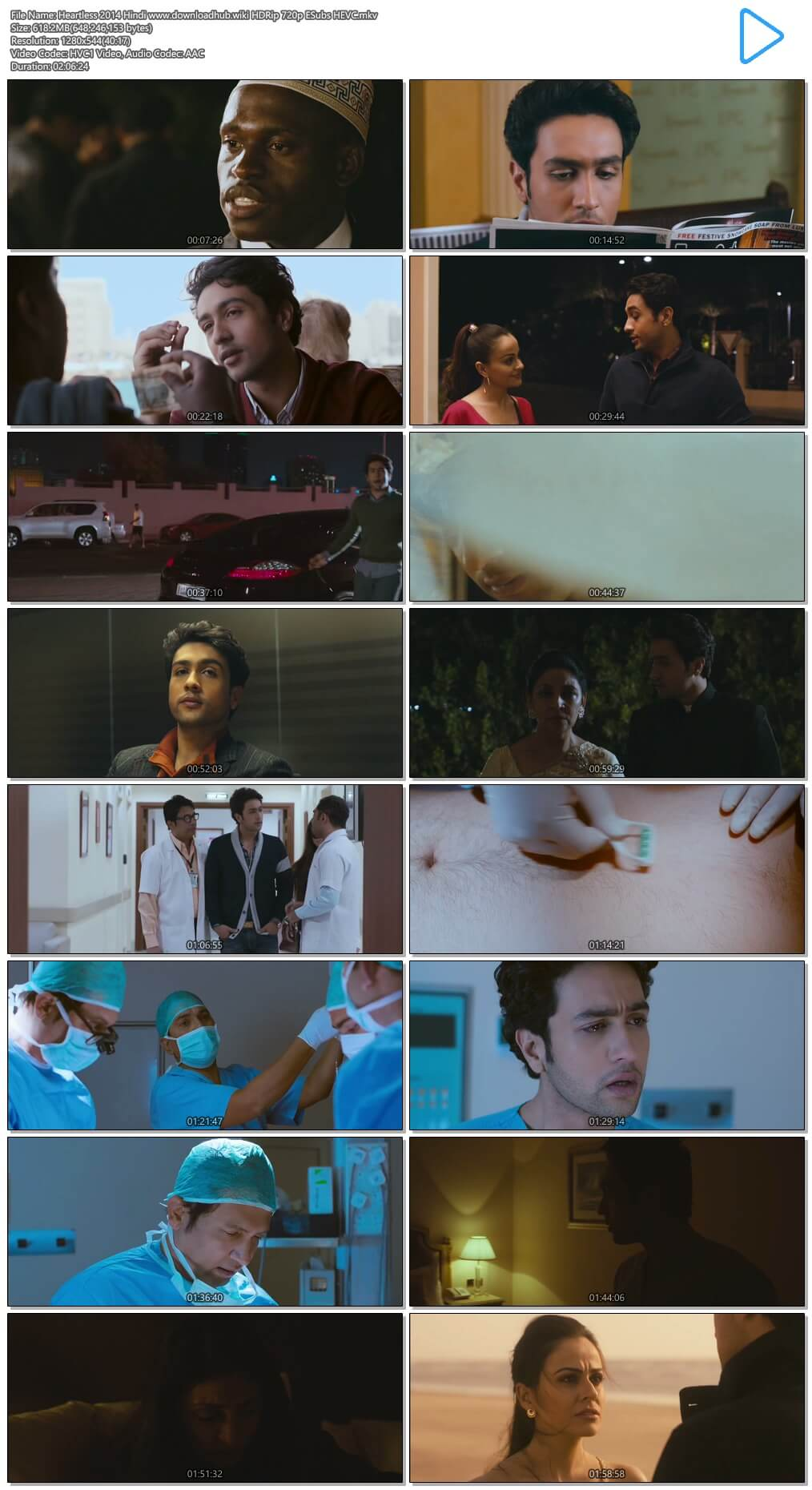 Heartless 2014 Hindi 600MB HDRip 720p ESubs HEVC