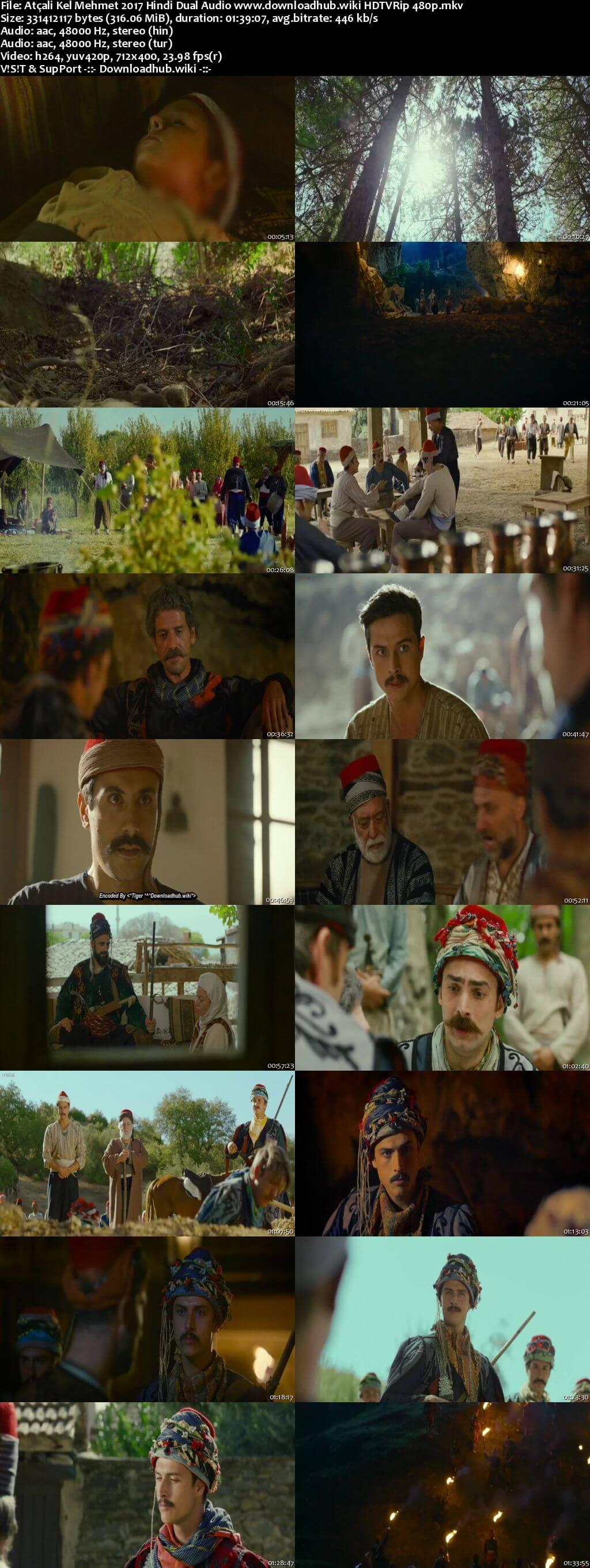 Atçali Kel Mehmet 2017 Hindi Dual Audio 300MB HDTVRip 480p
