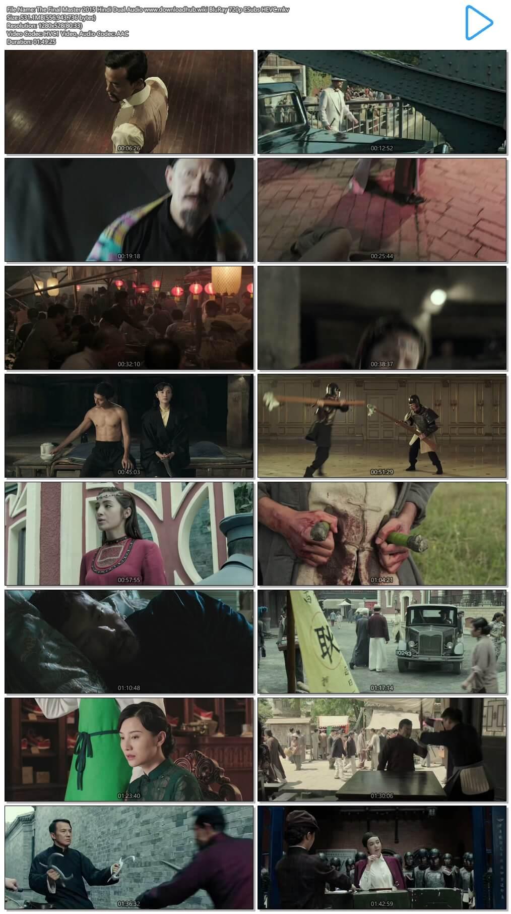 The Final Master 2015 Hindi Dual Audio 500MB BluRay 720p ESubs HEVC