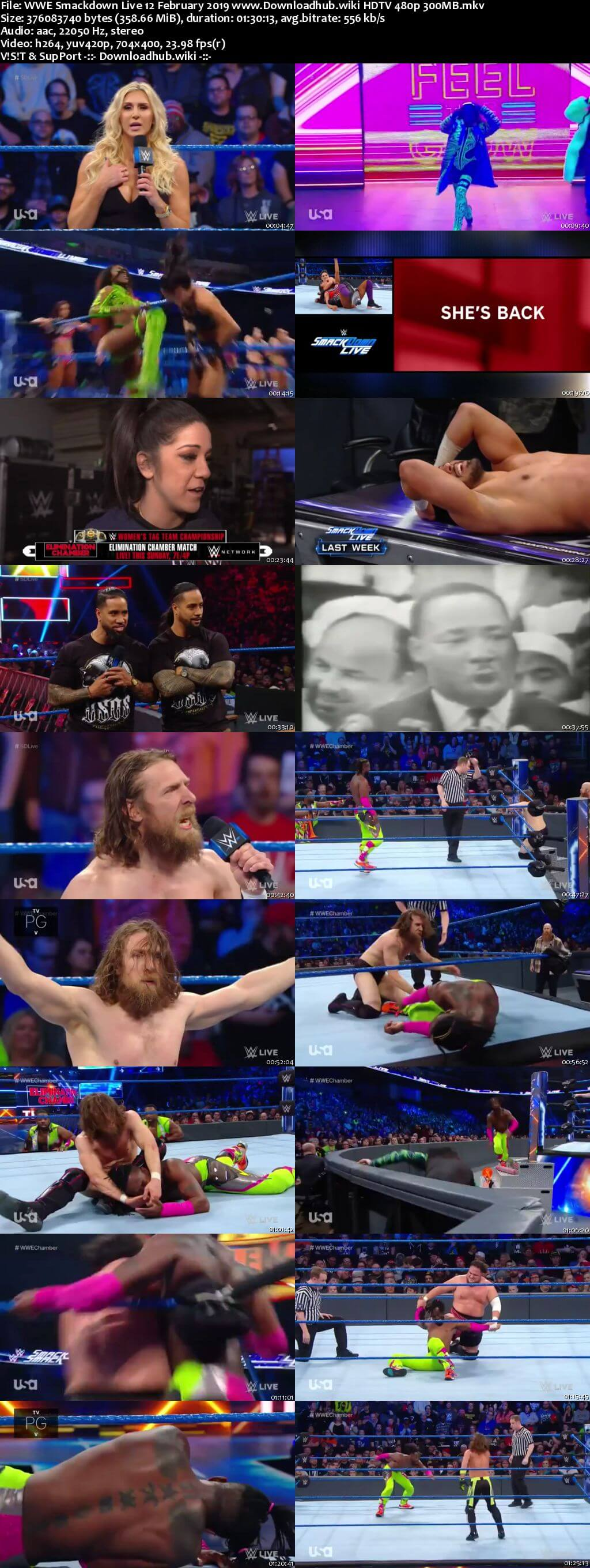 WWE Smackdown Live 12th February 2019 300MB HDTV 480p