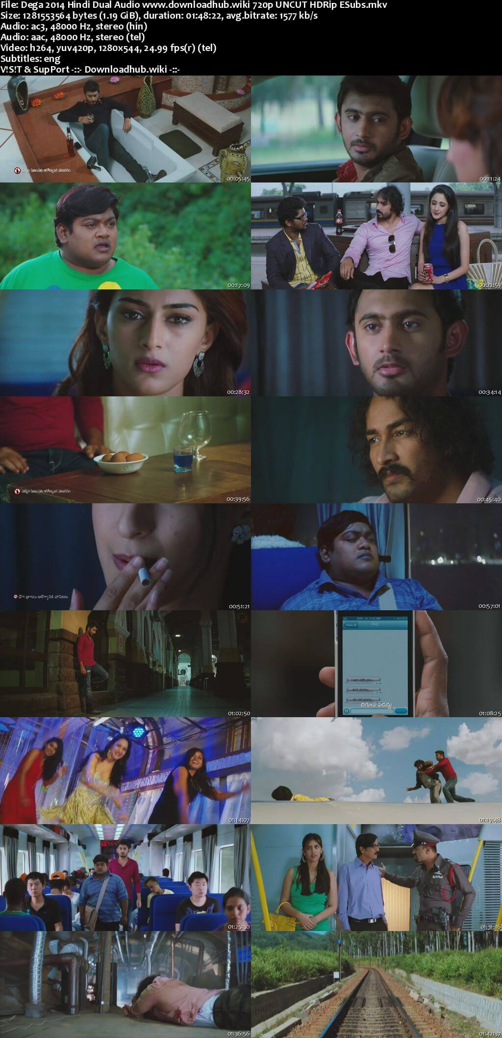 Dega 2014 Hindi Dual Audio 720p UNCUT HDRip ESubs