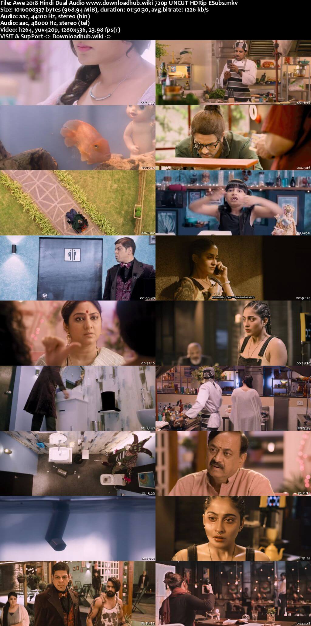 Awe 2018 Hindi Dual Audio 720p UNCUT HDRip ESubs