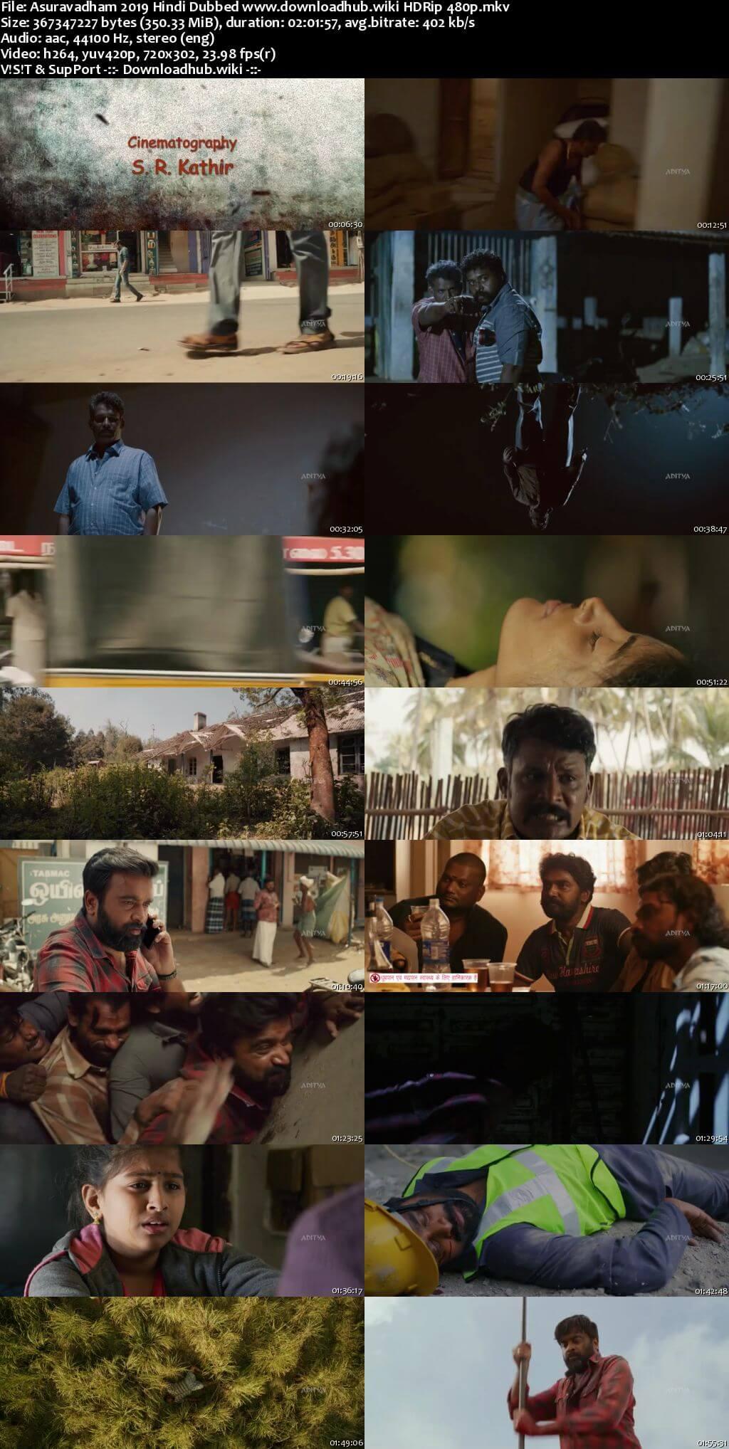 Asuravadham 2019 Hindi Dubbed 350MB HDRip 480p