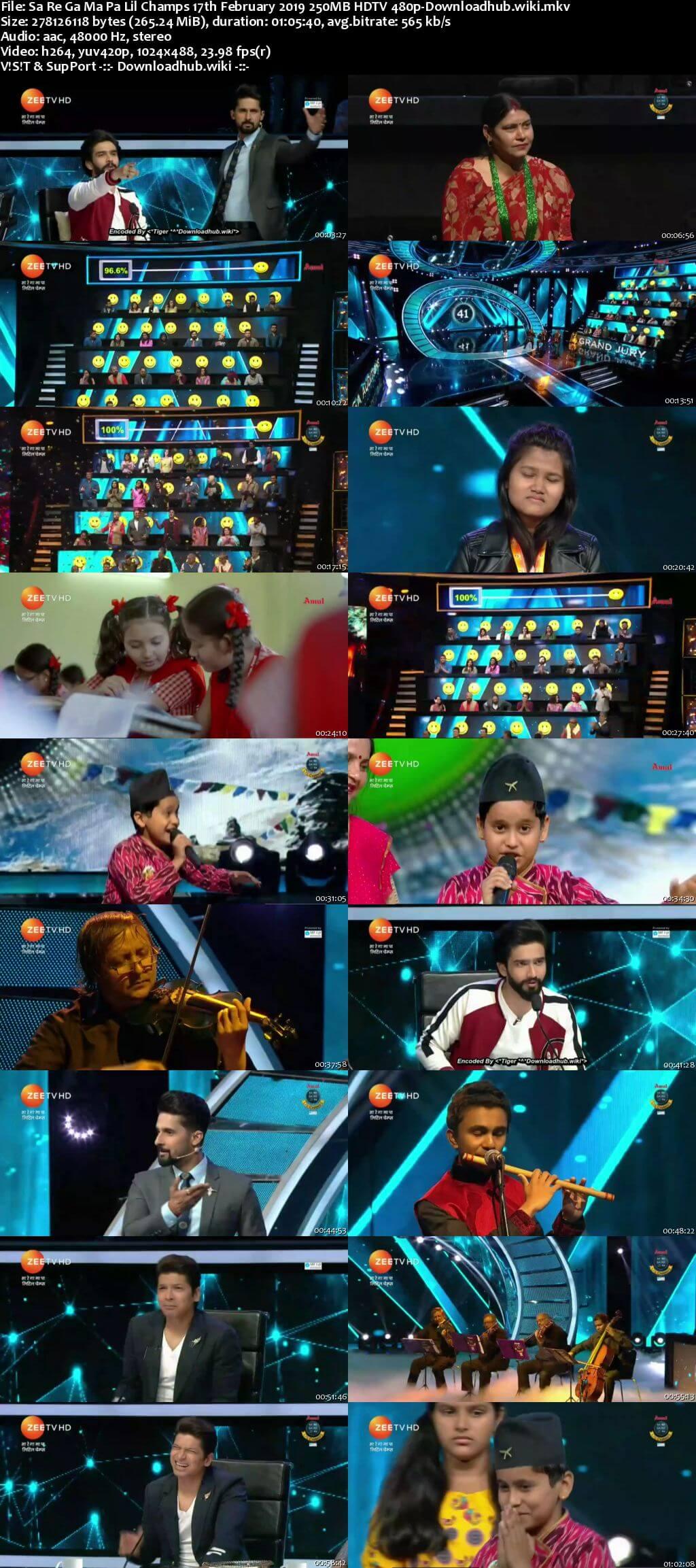Sa Re Ga Ma Pa Lil Champs 17 February 2019 Episode 04 HDTV 480p