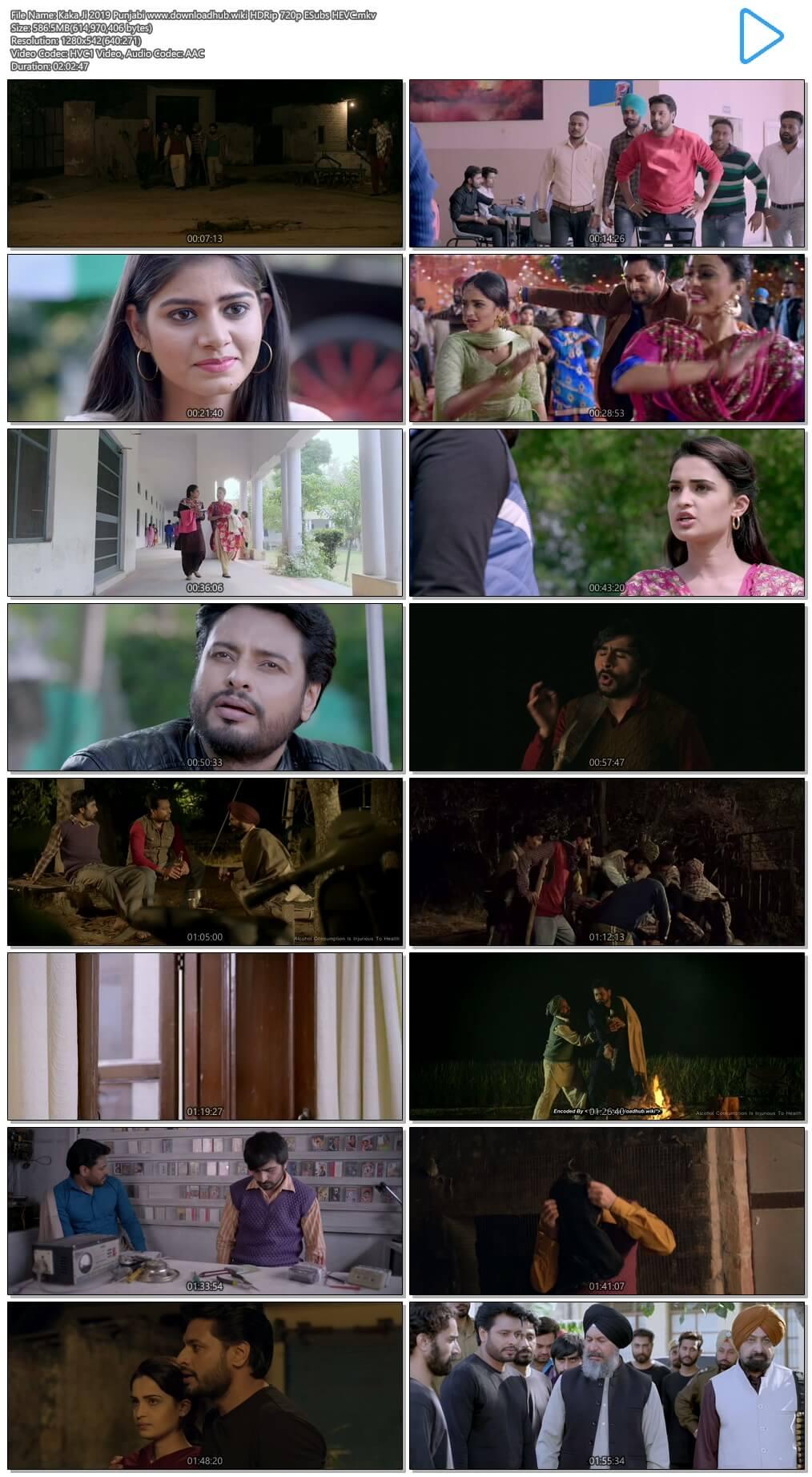 Kaka Ji 2019 Punjabi 550MB HDRip 720p ESubs HEVC