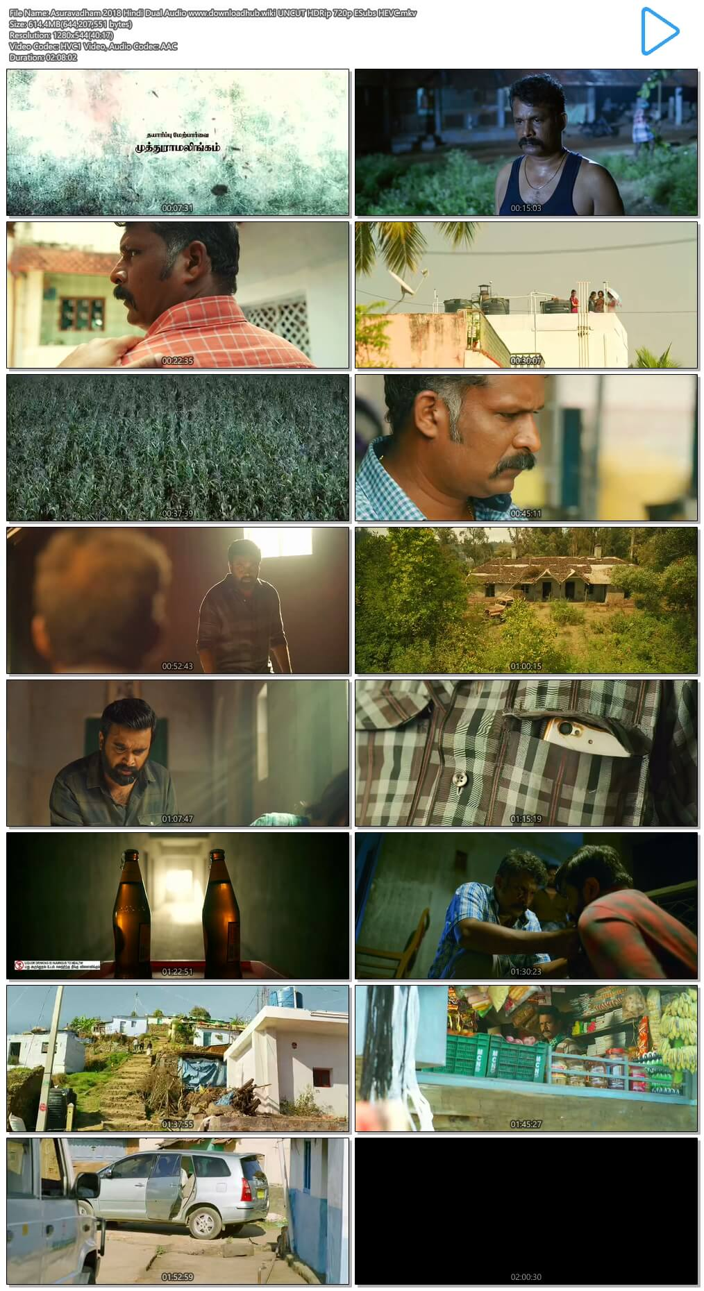 Asuravadham 2018 Hindi Dual Audio 600MB UNCUT HDRip 720p ESubs HEVC