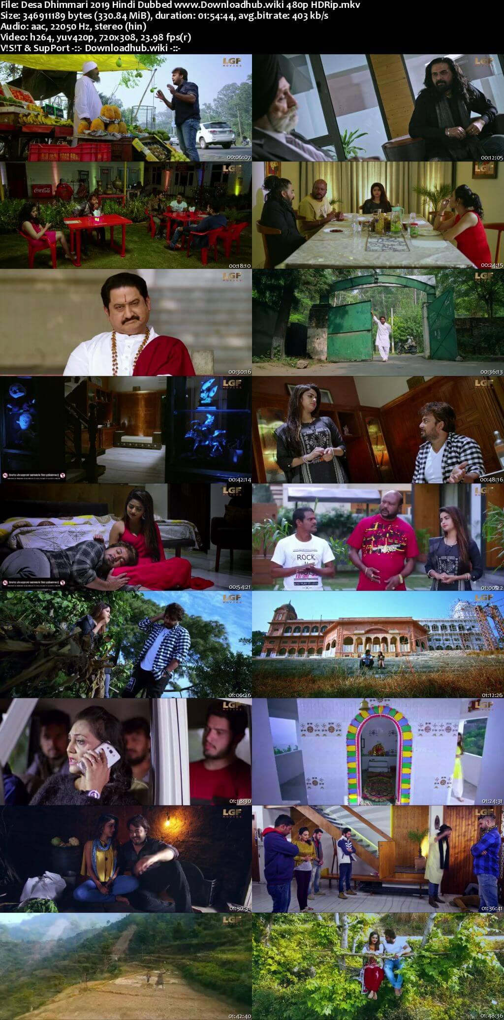 Desa Dhimmari 2019 Hindi Dubbed 300MB HDRip 480p