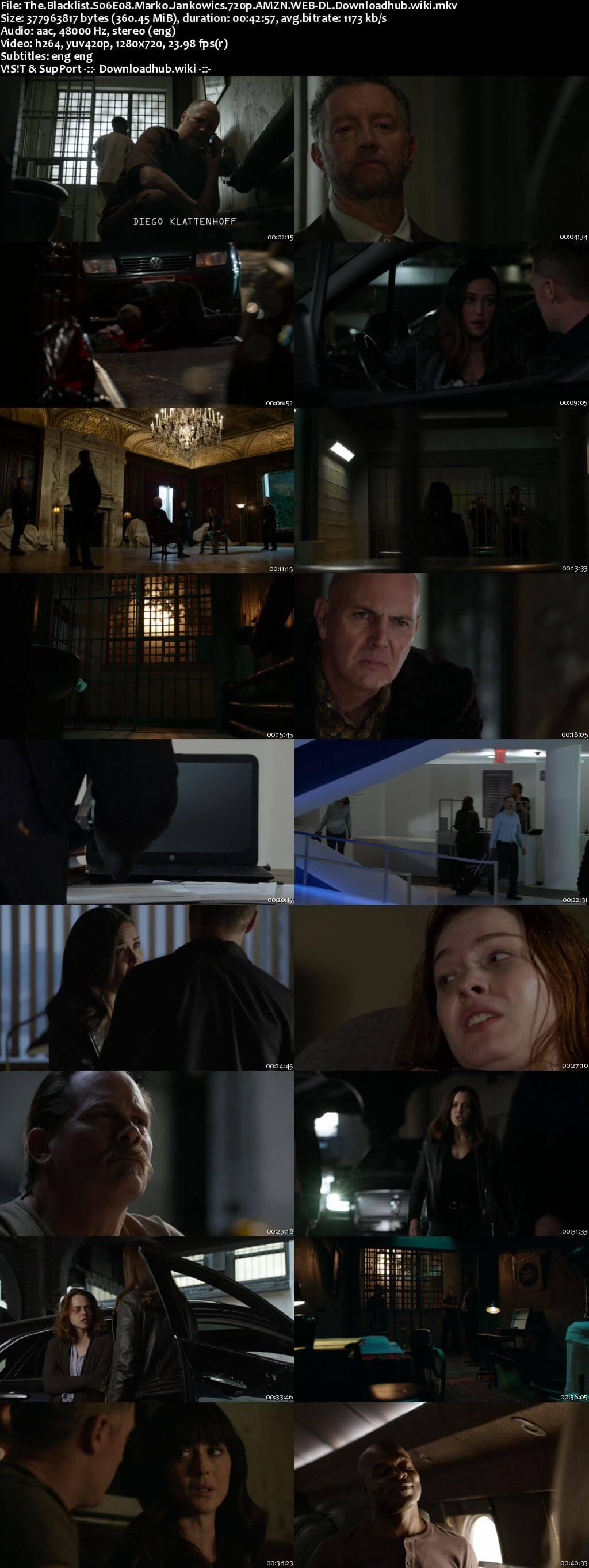 The Blacklist S06E08 350MB AMZN WEB-DL 720p ESubs