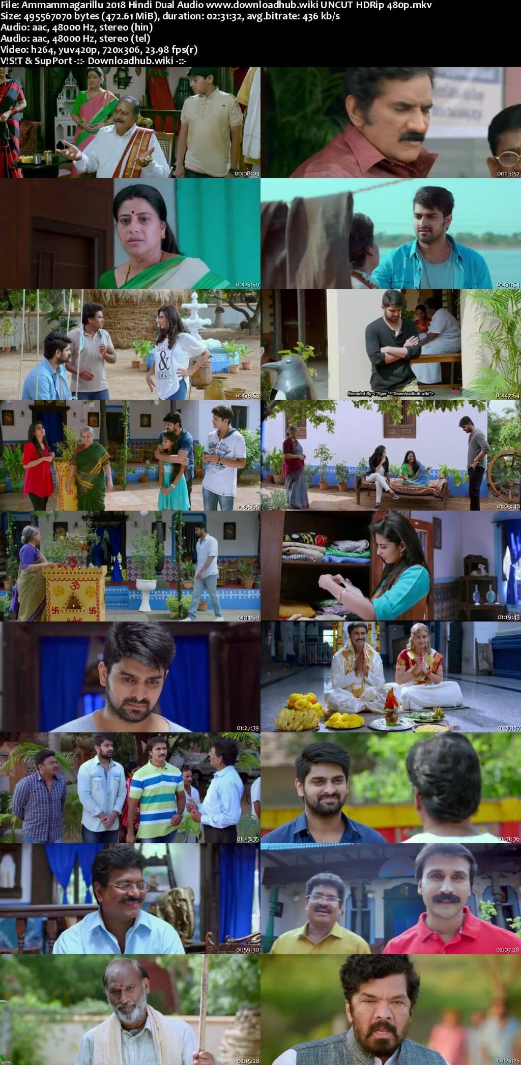 Ammammagarillu 2018 Hindi Dual Audio 450MB UNCUT HDRip 480p