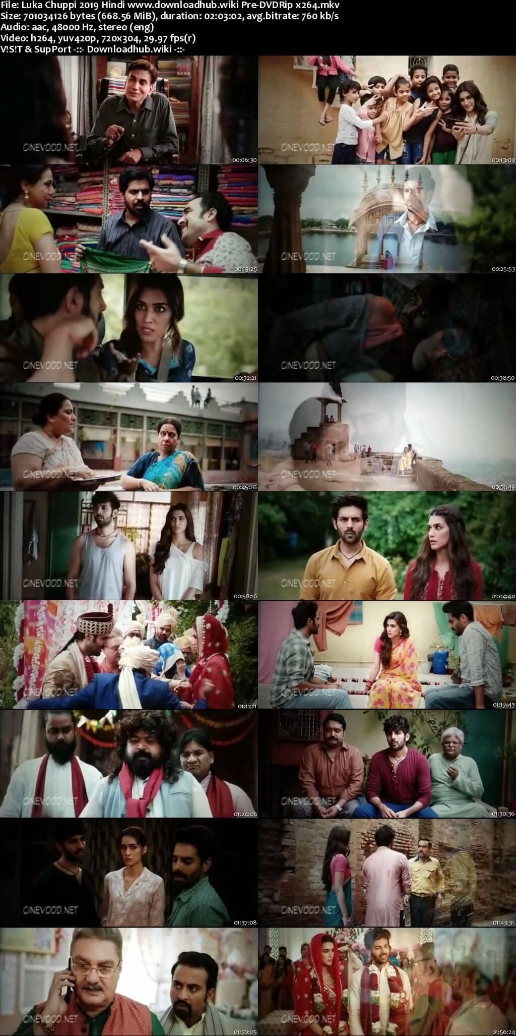 Luka Chuppi 2019 Hindi 700MB Pre-DVDRip x264