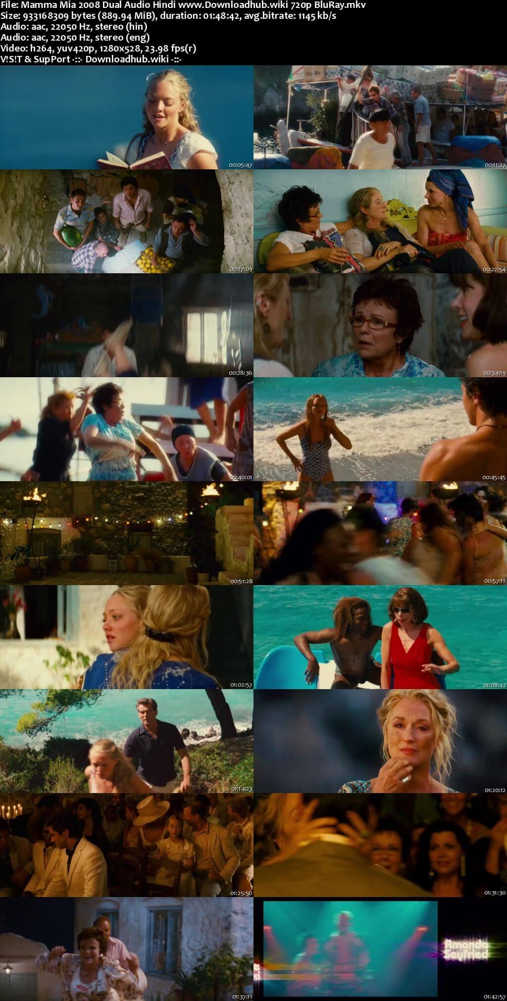 Mamma Mia 2008 Hindi Dual Audio 720p BluRay ESubs