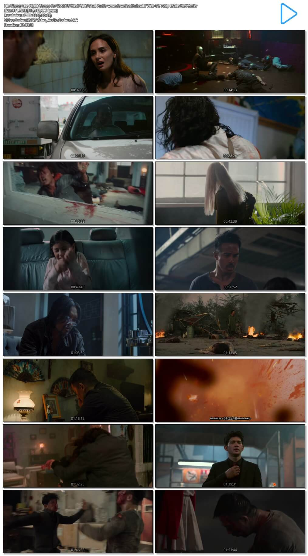 The Night Comes for Us 2018 Hindi ORG Dual Audio 600MB Web-DL 720p ESubs HEVC