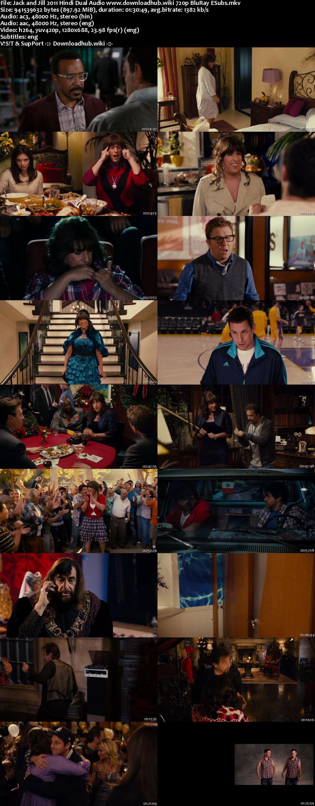 Jack and Jill 2011 Hindi Dual Audio 720p BluRay ESubs