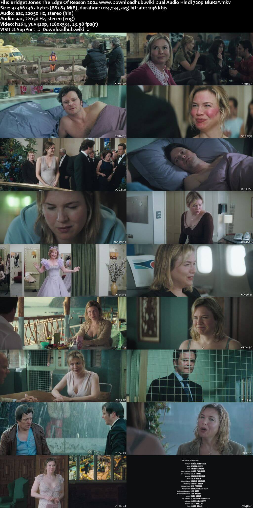 Bridget Jones The Edge of Reason 2004 Hindi Dual Audio 720p BluRay ESubs