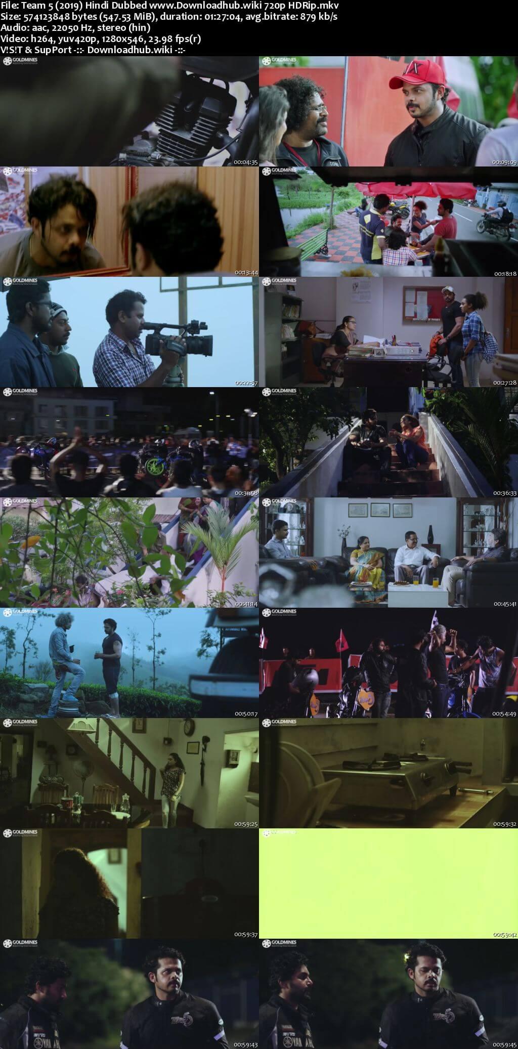 Team 5 2019 Hindi Dubbed 720p HDRip x264