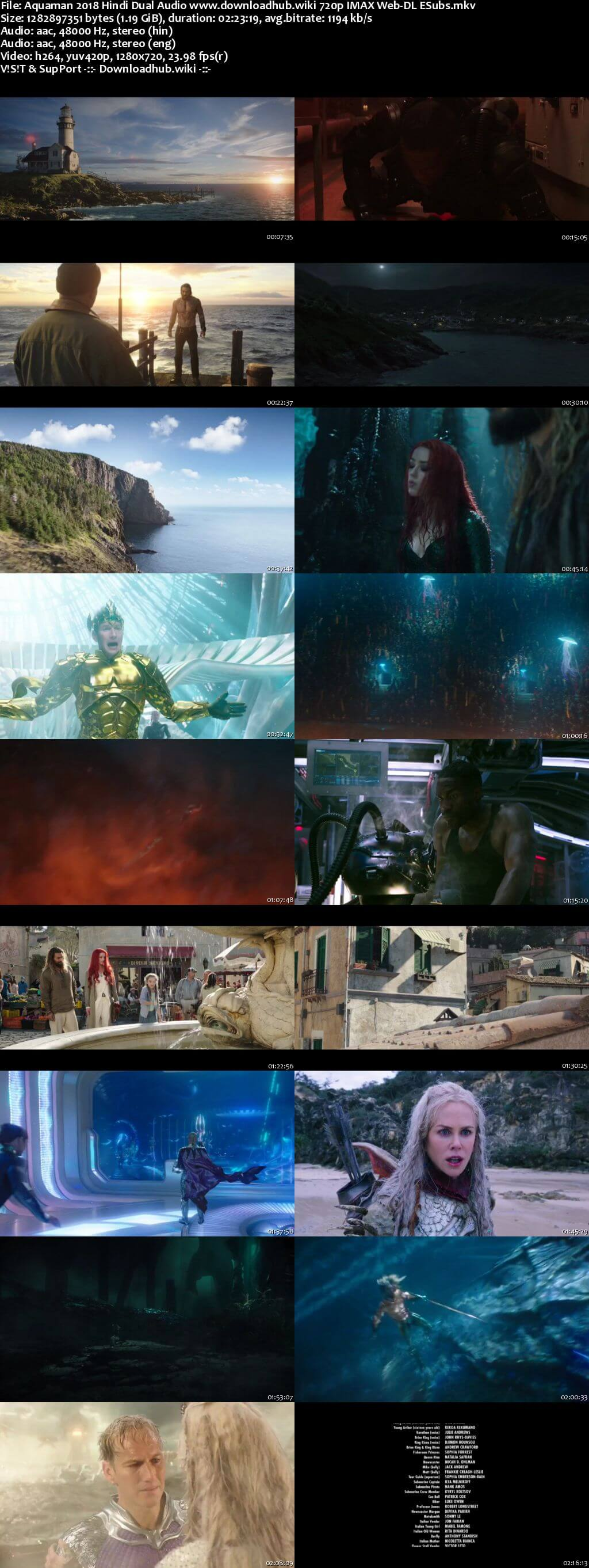 Aquaman 2018 Hindi Dual Audio 720p IMAX Web-DL ESubs