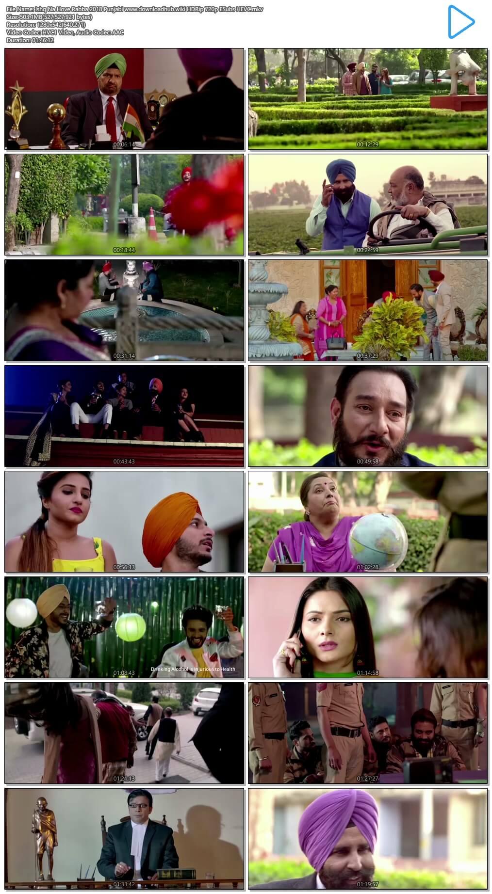 Ishq Na Hove Rabba 2018 Punjabi 500MB HDRip 720p ESubs HEVC