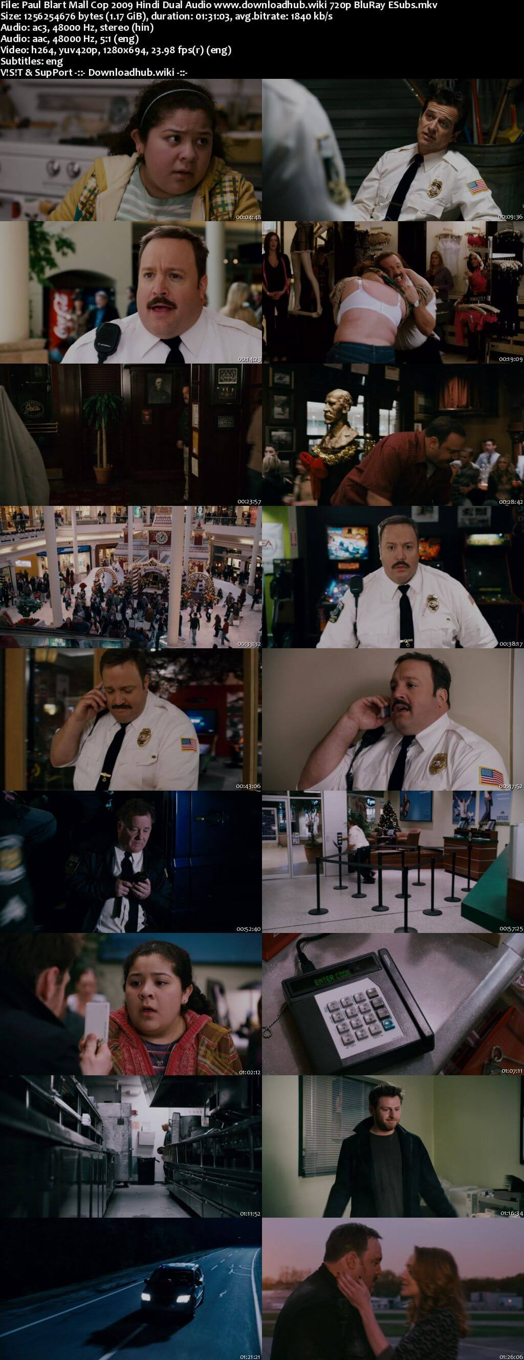 Paul Blart Mall Cop 2009 Hindi Dual Audio 720p BluRay ESubs