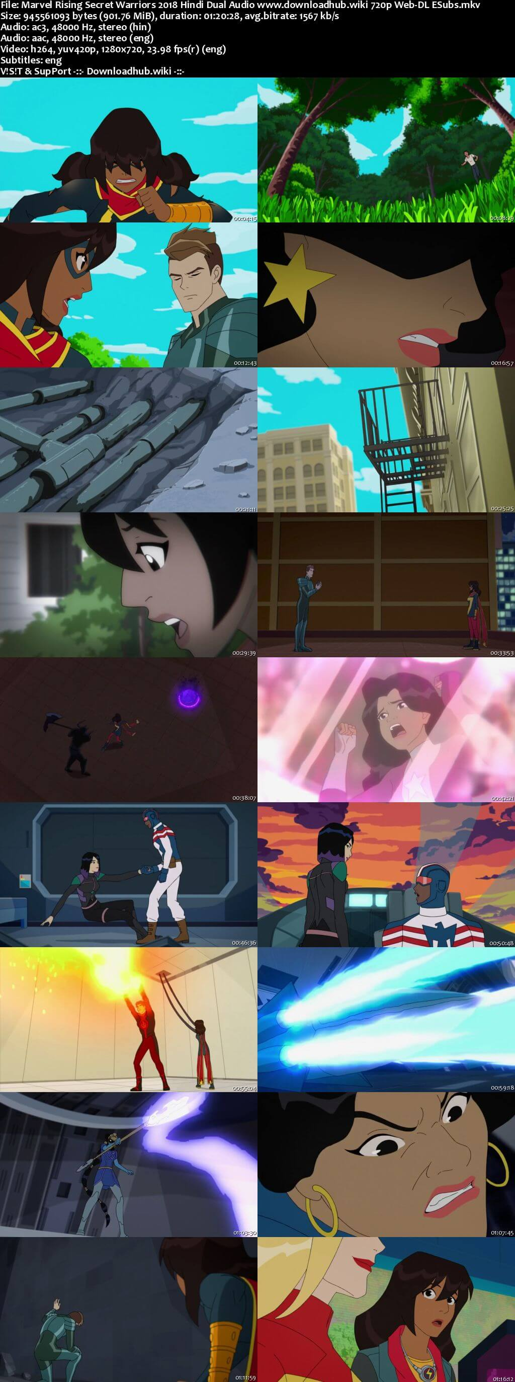 Marvel Rising Secret Warriors 2018 Hindi Dual Audio 720p Web-DL ESubs