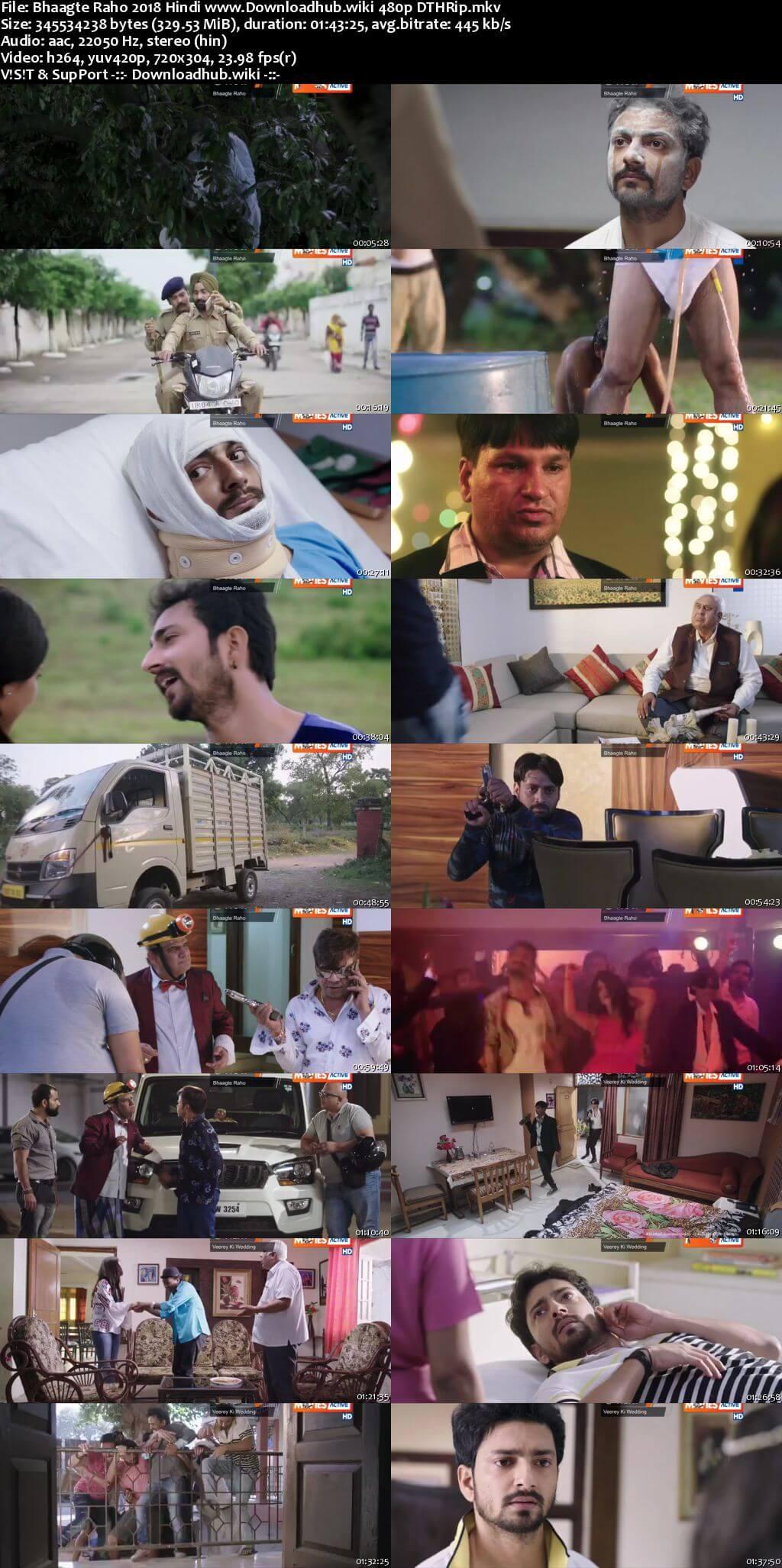 Bhaagte Raho 2018 Hindi 300MB DTHRip 480p