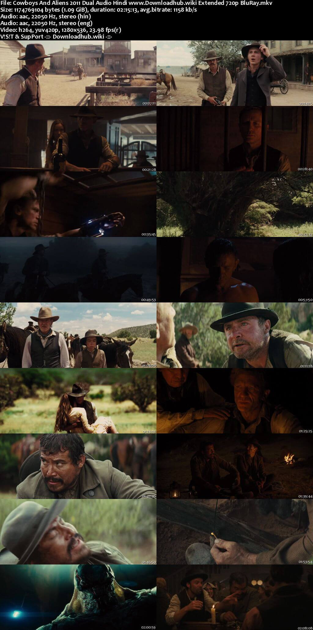 Cowboys And Aliens 2011 Hindi Dual Audio 720p EXTENDED BluRay ESubs