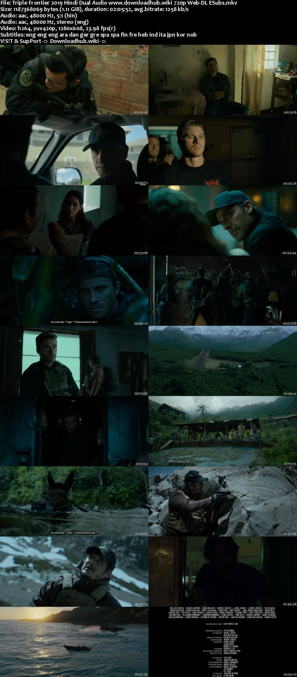 Triple Frontier 2019 Hindi Dual Audio 720p Web-DL MSubs