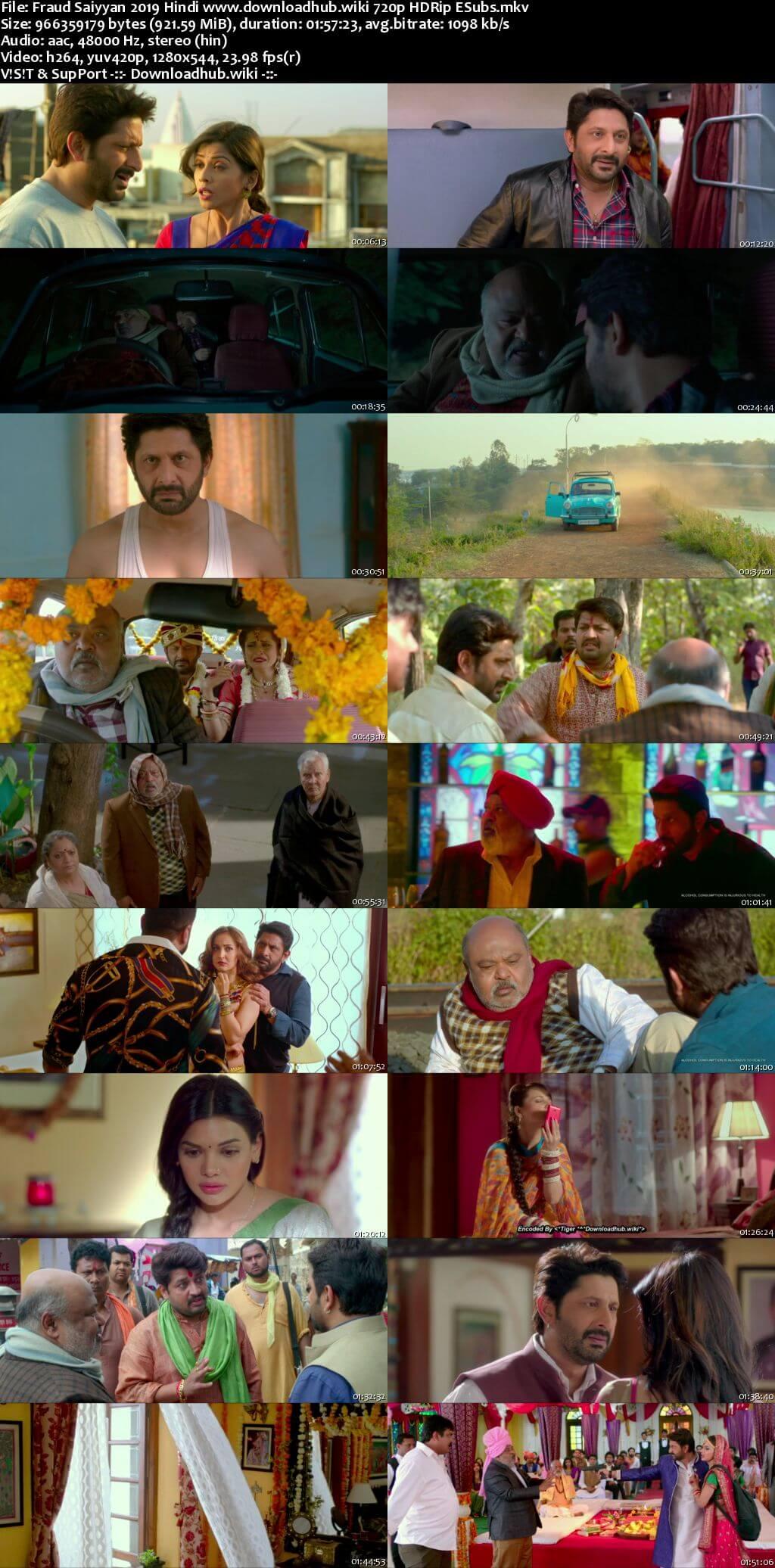 Fraud Saiyyan 2019 Hindi 720p HDRip ESubs