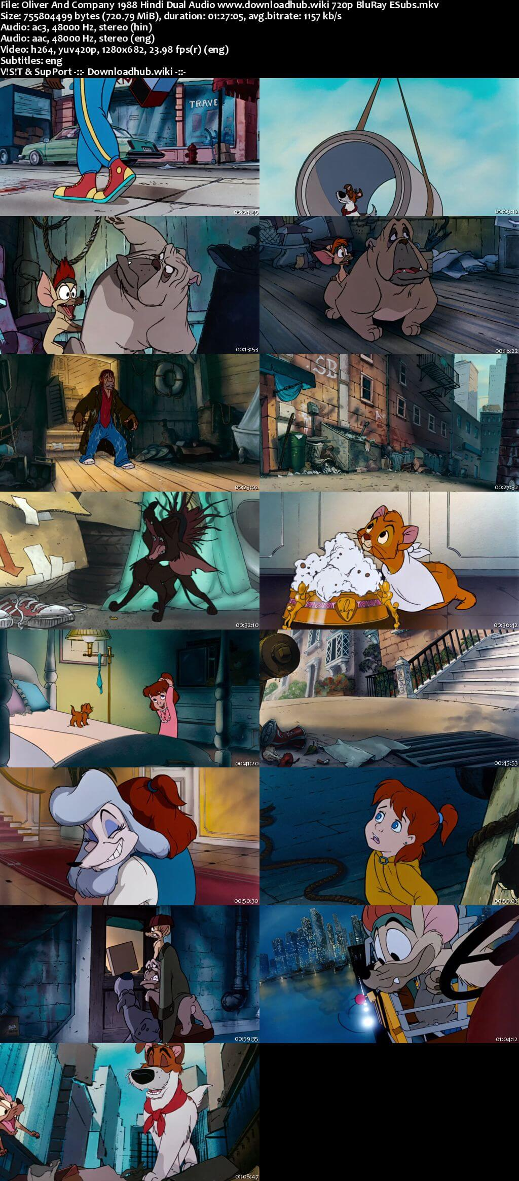Oliver And Company 1988 Hindi Dual Audio 720p BluRay ESubs