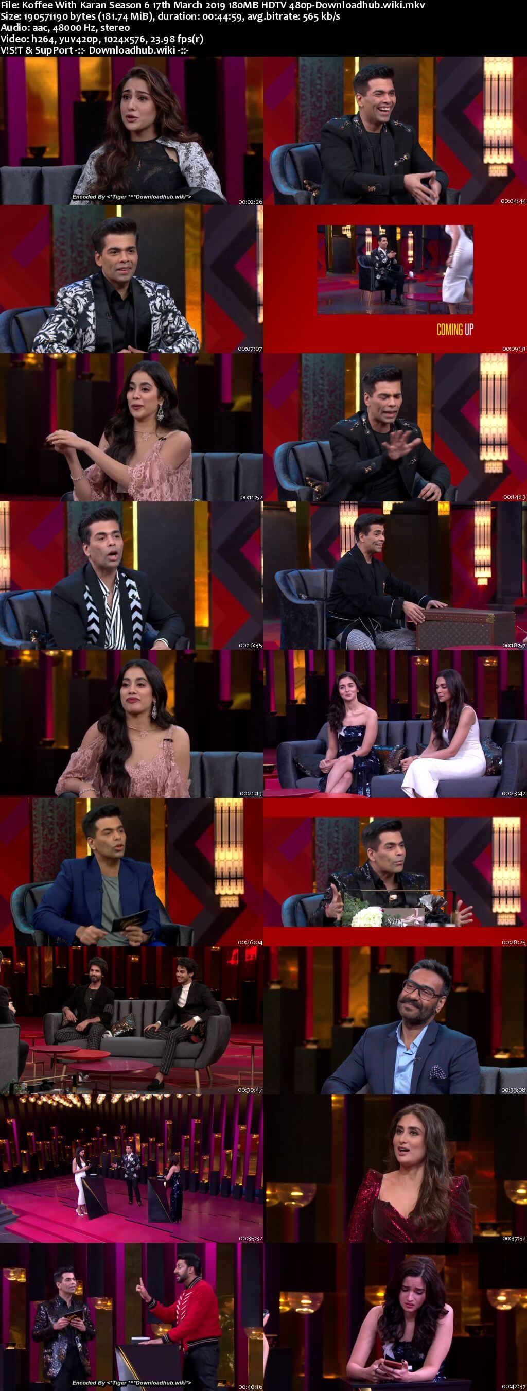 Koffee With Karan 6 17 March 2019 Episode 22 HDTV 480p