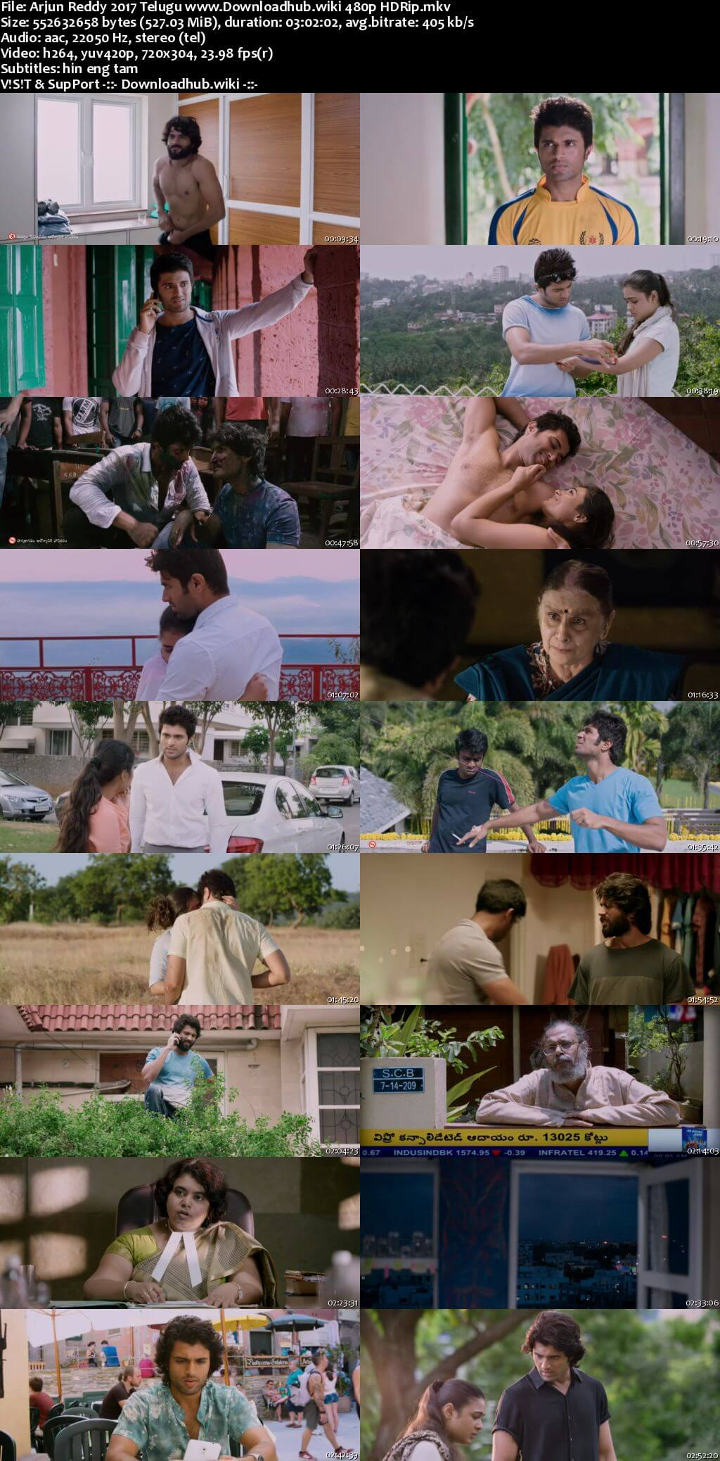 Arjun Reddy 2017 Telugu 500MB HDRip 480p MSubs