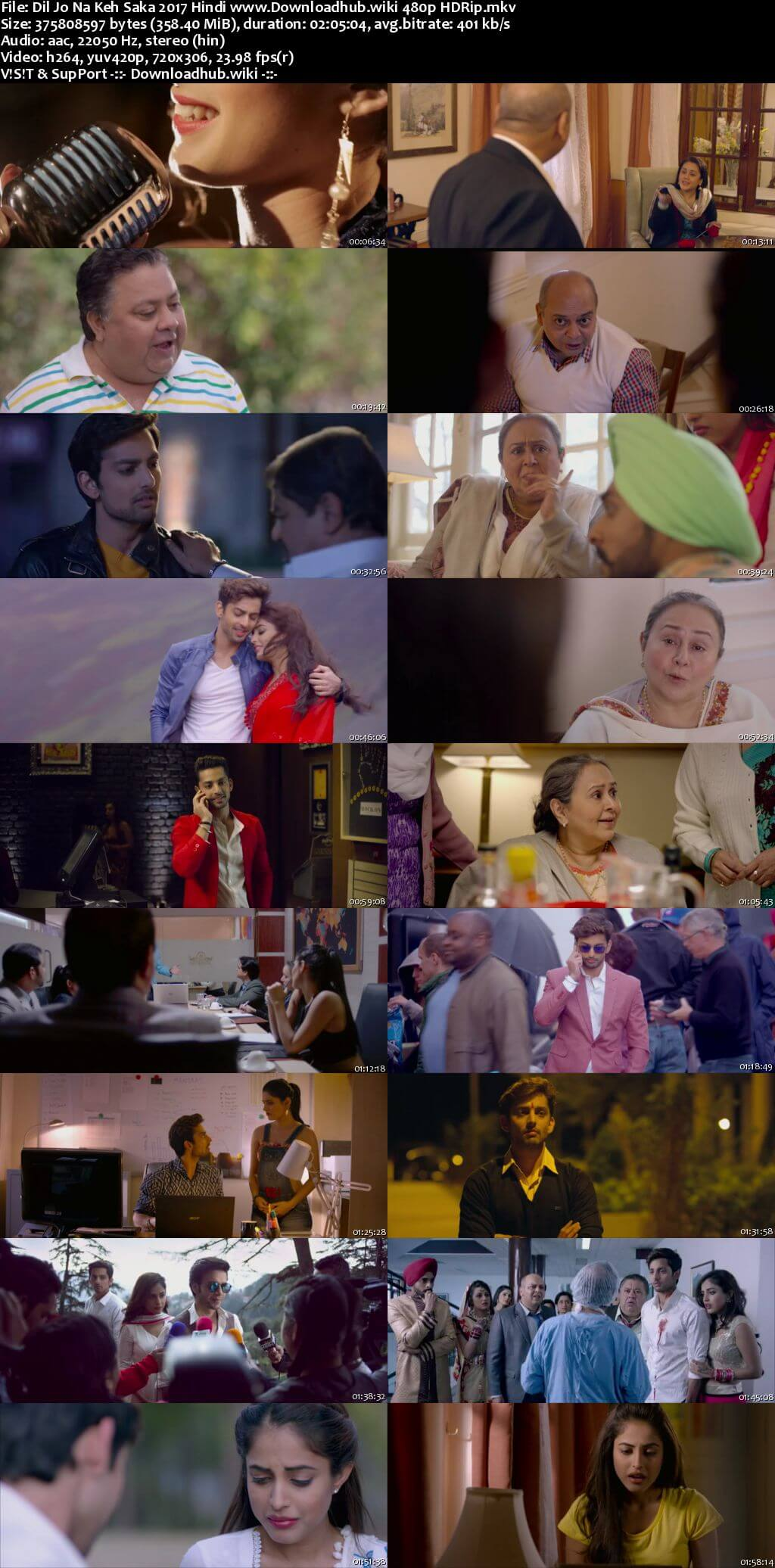 Dil Jo Na Keh Saka 2017 Hindi 350MB HDRip 480p